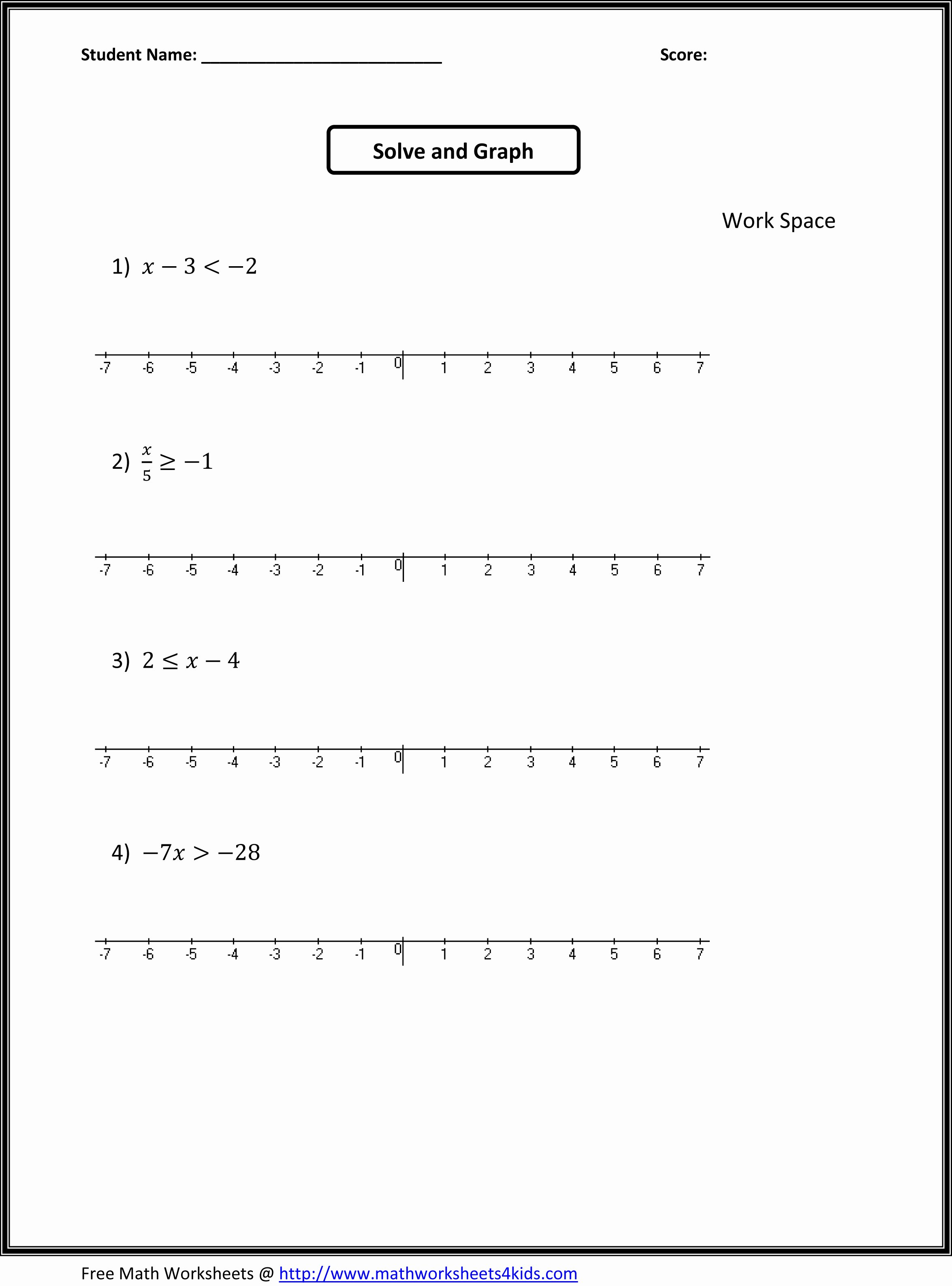 7th Grade Math Algebra Worksheets Lovely Download 7th Grade Math Worksheets