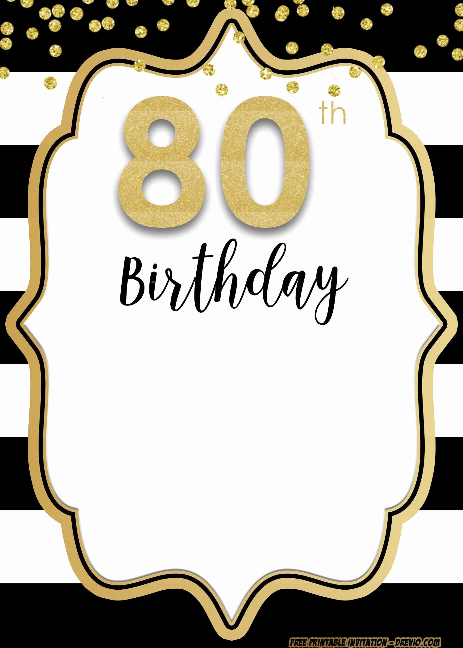80th Birthday Party Program Best Of Free Printable 80th Birthday Invitations Free Invitation