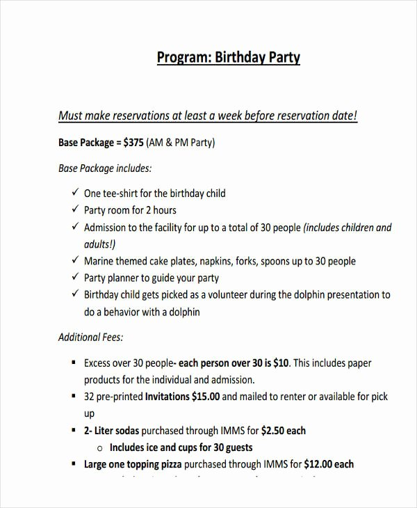 80th Birthday Party Program Elegant Free 25 Program Examples In Pdf Ai Pages