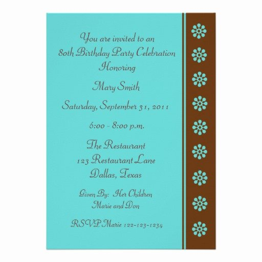 80th Birthday Party Program Fresh 80th Birthday Party Invitation Template 13 Cm X 18 Cm