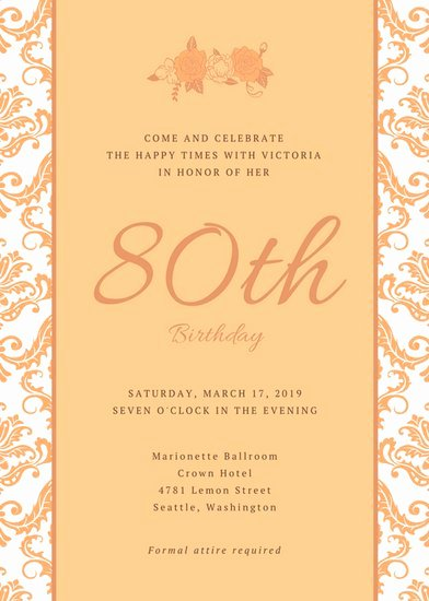 80th Birthday Party Program Unique 80th Birthday Party Invitations