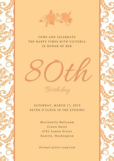 80th Birthday Party Program Unique 80th Birthday Party Invitations
