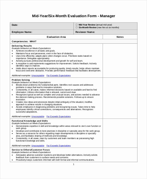 90 Day Evaluation forms New Employee Review Templates 13 Free Pdf Documents