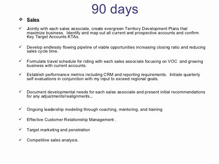 90 Day Evaluation forms Unique 30 60 90 Days Plan to Meet Goals for New organization