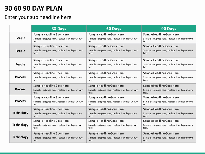 90 Day Plan Examples Best Of 30 60 90 Day Plan Powerpoint Template