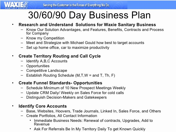 90 Day Plan Examples New 30 60 90 Business Plan