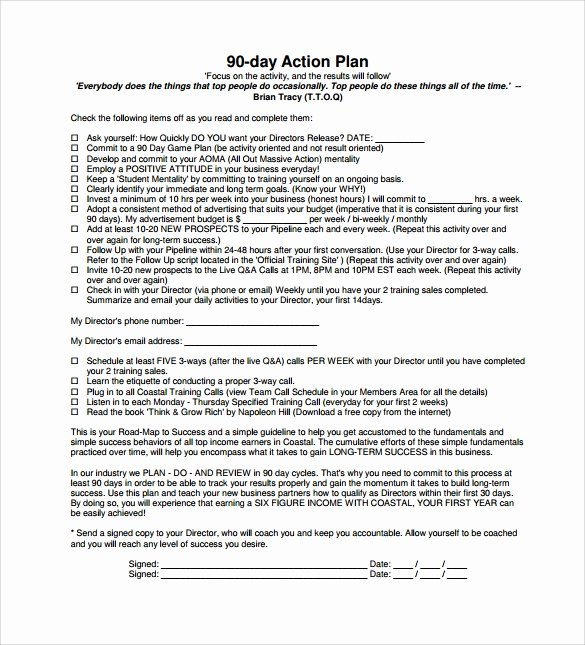 90 Day Plan Examples Unique Sample 90 Day Plan 15 Documents In Pdf Word