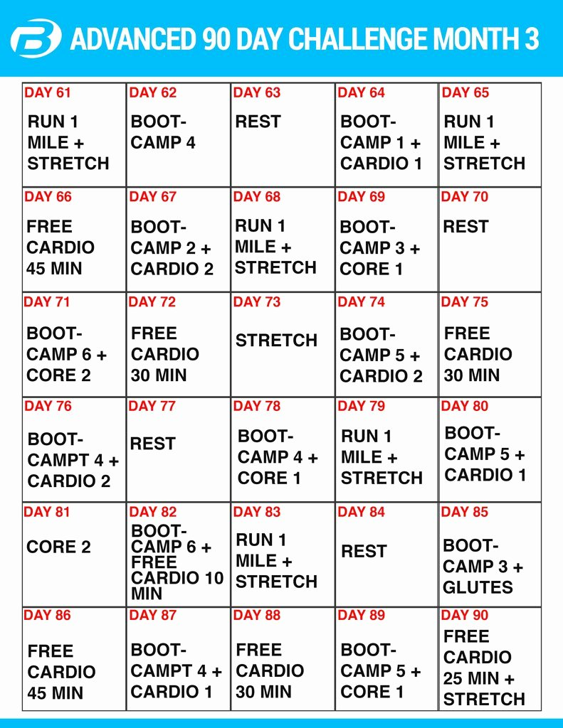 90 Day Workout Plan Awesome Workout Plan and Create Your Own Meal Plan