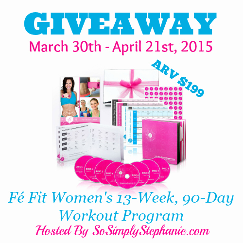 90 Day Workout Plan Beautiful Fé Fit Women S 90 Day Workout Dvd Program Giveaway Arv