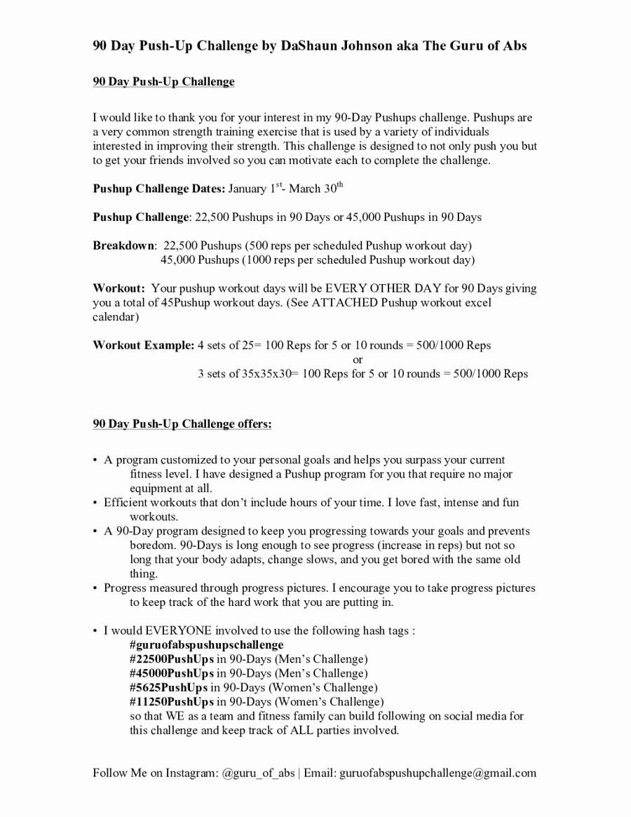 90 Day Workout Plan Elegant 2019 30 Day Workout Plan Fillable Printable Pdf & forms