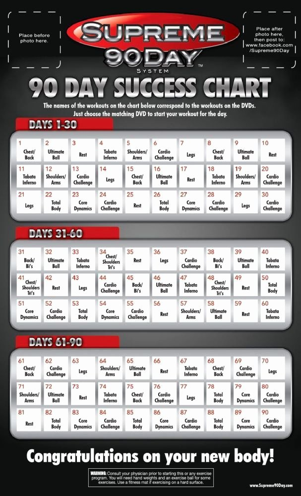 90 Day Workout Plan Inspirational Supreme 90 Day Workout Schedule with Time Fit