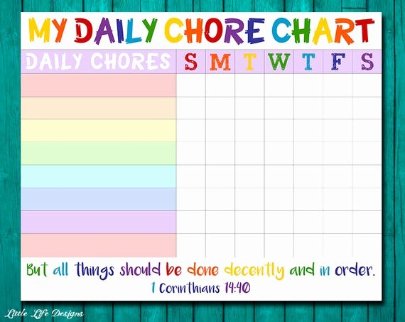 A List Of Chores Best Of Chore Chart for Kids Chore Chart Printable Chore List Kids