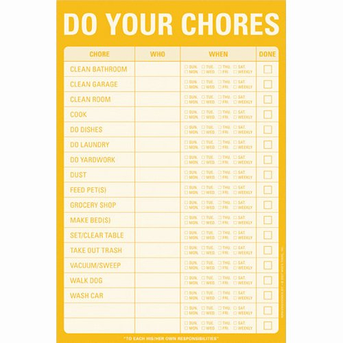 A List Of Chores Fresh Household Chore List Notepad In Notepads and Pens