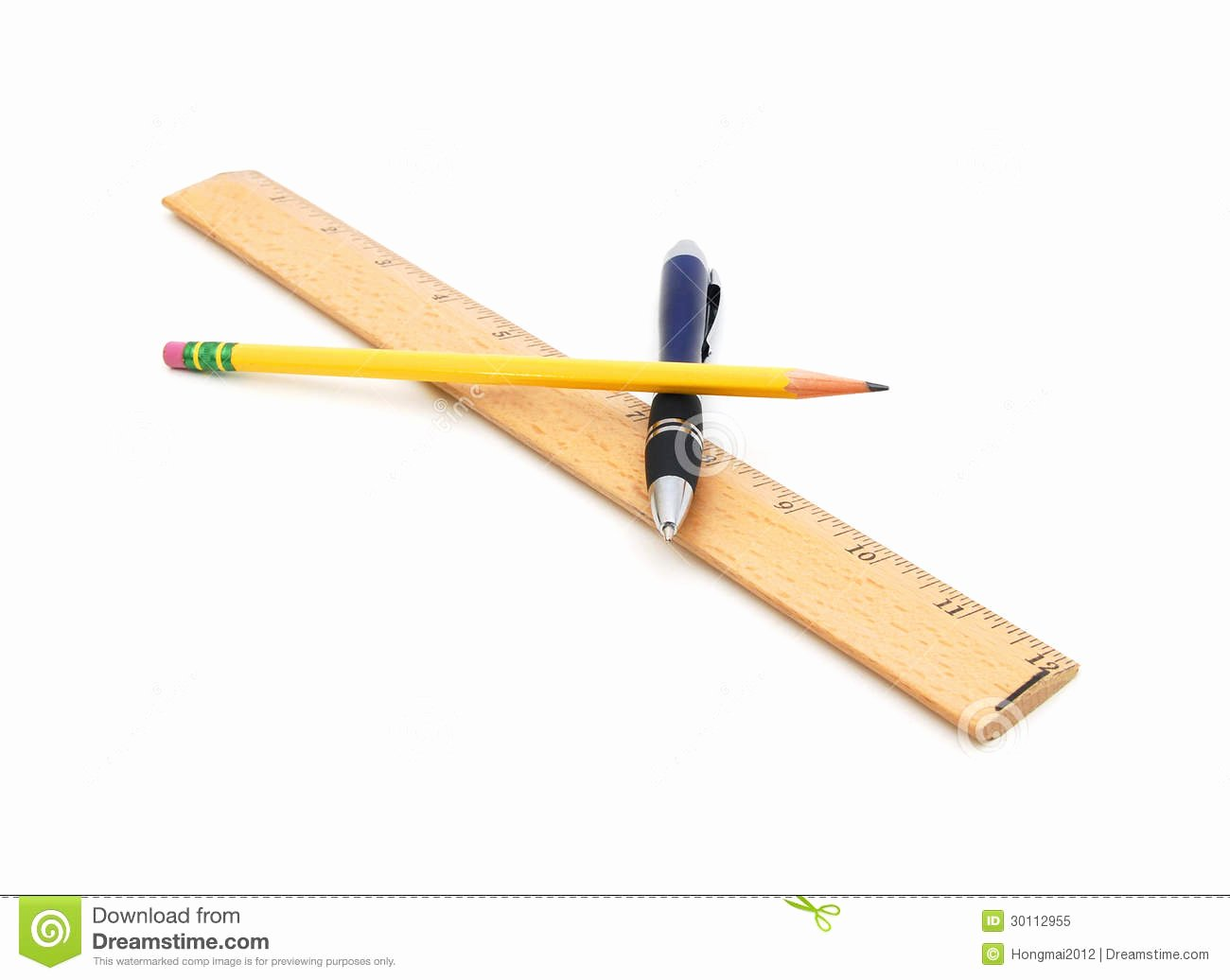 A Picture Of A Pencil Awesome Pen Pencil and Ruler Royalty Free Stock Image