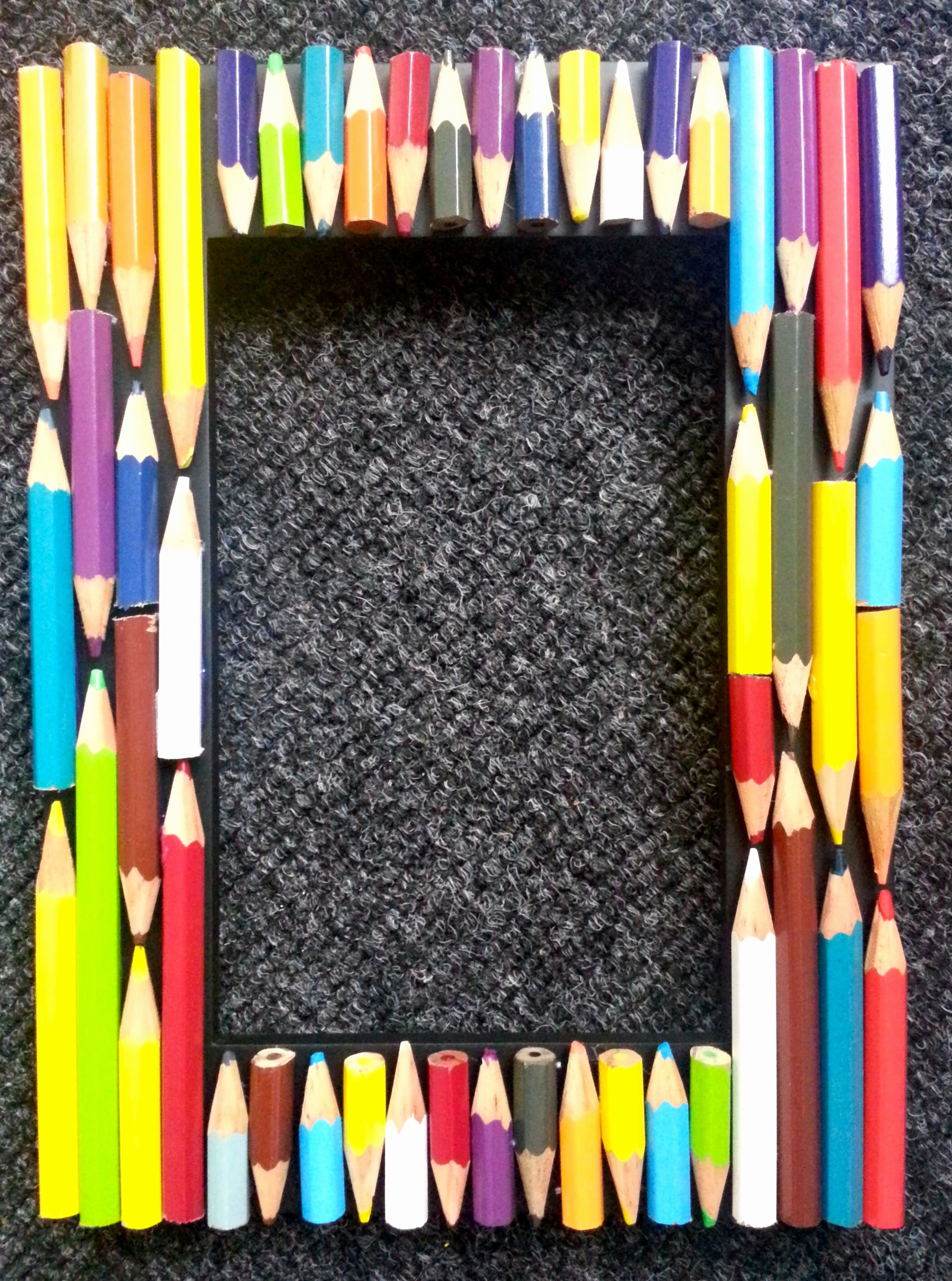 A Picture Of A Pencil New Diy Coloured Pencil Picture Frame