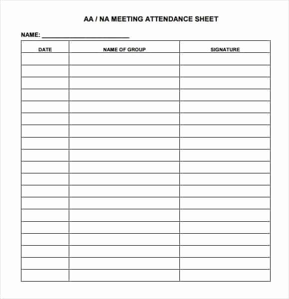 Aa Meeting attendance Sheet Fresh 9 attendance Sheet Templates Word Excel Pdf formats