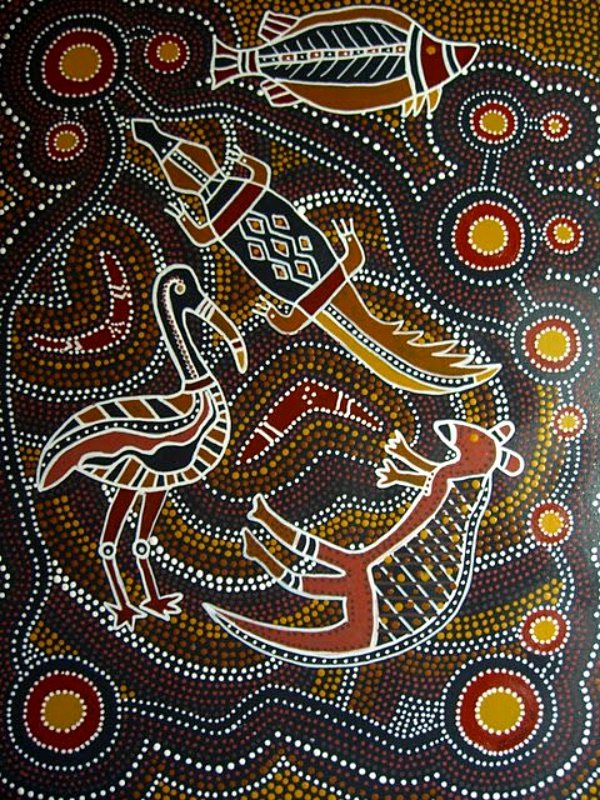 Aboriginal Dot Painting Templates Awesome 40 Plex yet Beautiful Aboriginal Art Examples