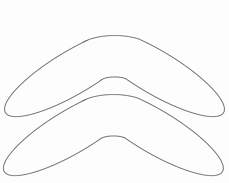 Aboriginal Dot Painting Templates Beautiful Boomerang Template Free to Use