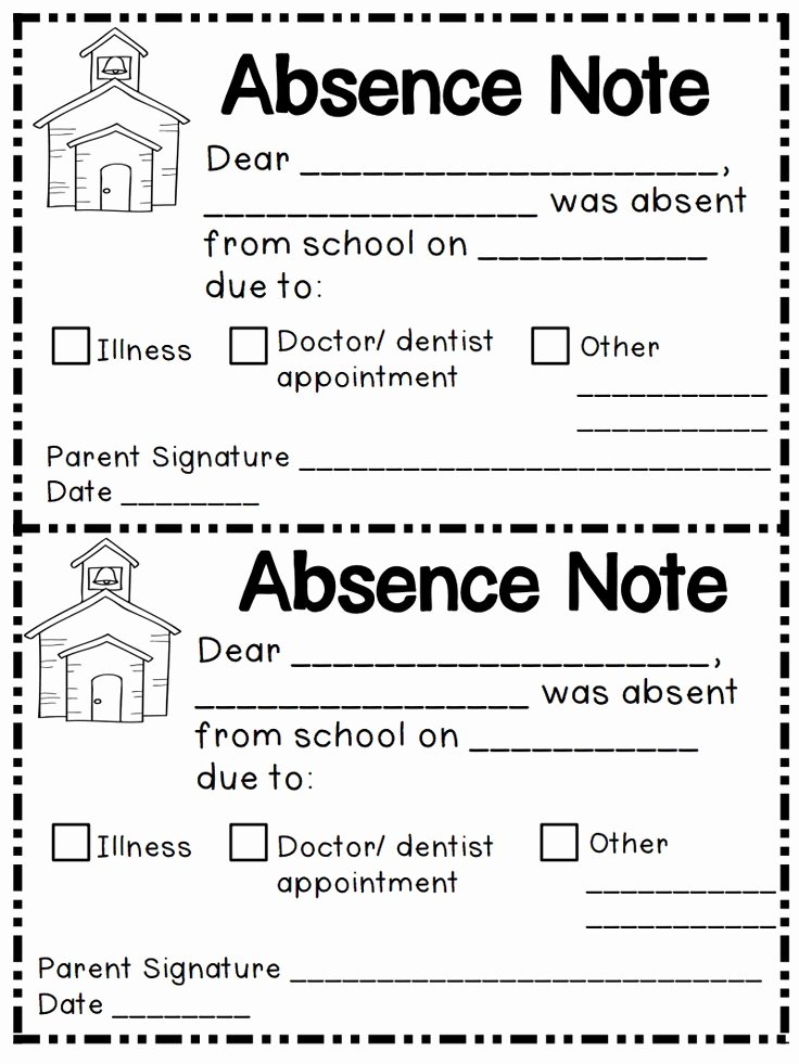 Absence Note for School Sample Best Of Best 25 Absent Letter Ideas On Pinterest