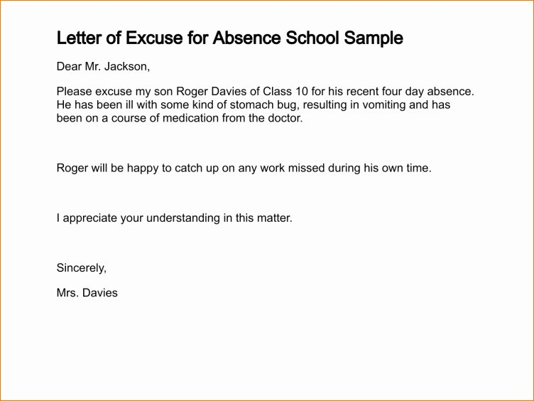 Absence Note for School Sample Fresh Dr Note Excuse Absence – Platte Sunga Zette