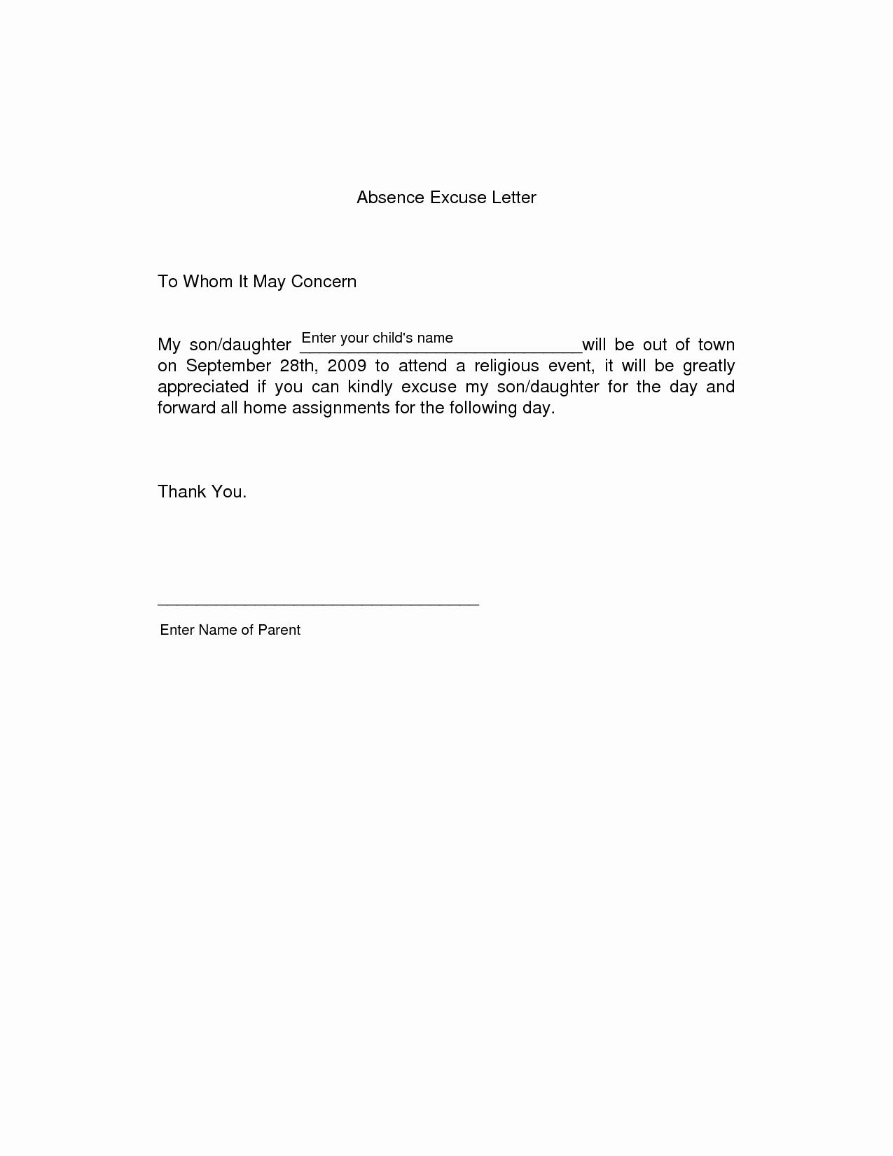 Absence Note for School Sample Luxury Leave Absence for University Homelightingcowarning