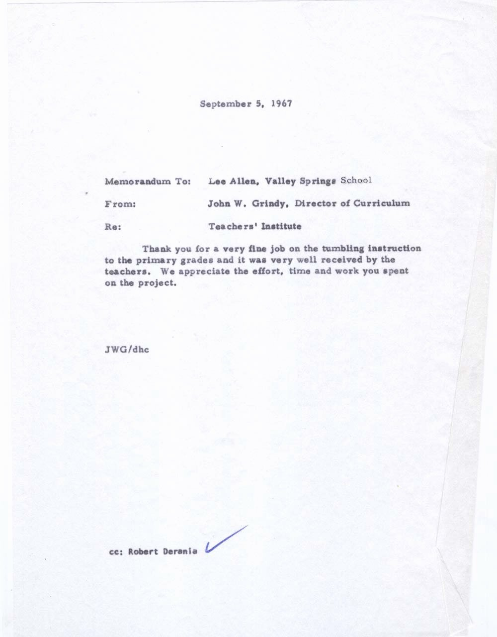 Absence Note for School Sample New Arthur Leigh Allen S 1966 1968 Personnel File