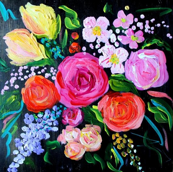 Abstract Pictures Of Flowers Awesome New Abstract Flower Painting Wedding Bouquet Fine Art