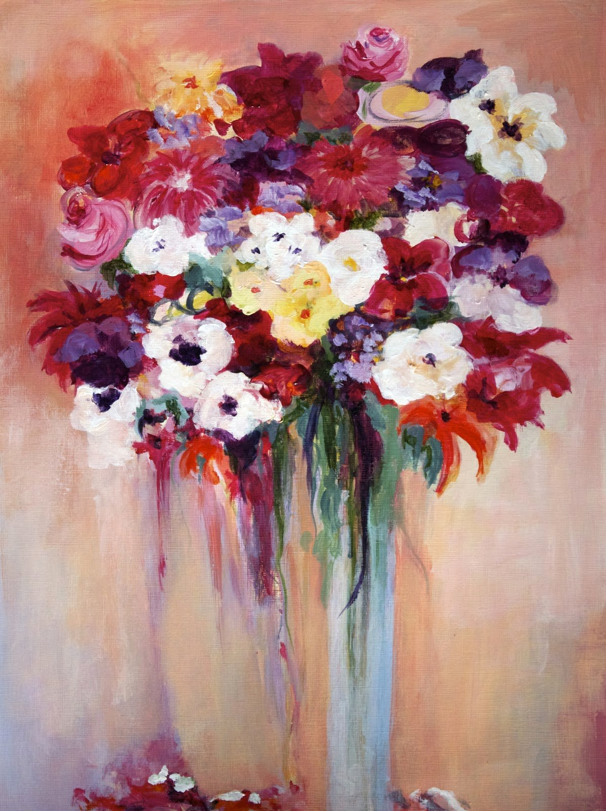 Abstract Pictures Of Flowers Inspirational Niki Arden Painting In Nyc Sunshine Flowers