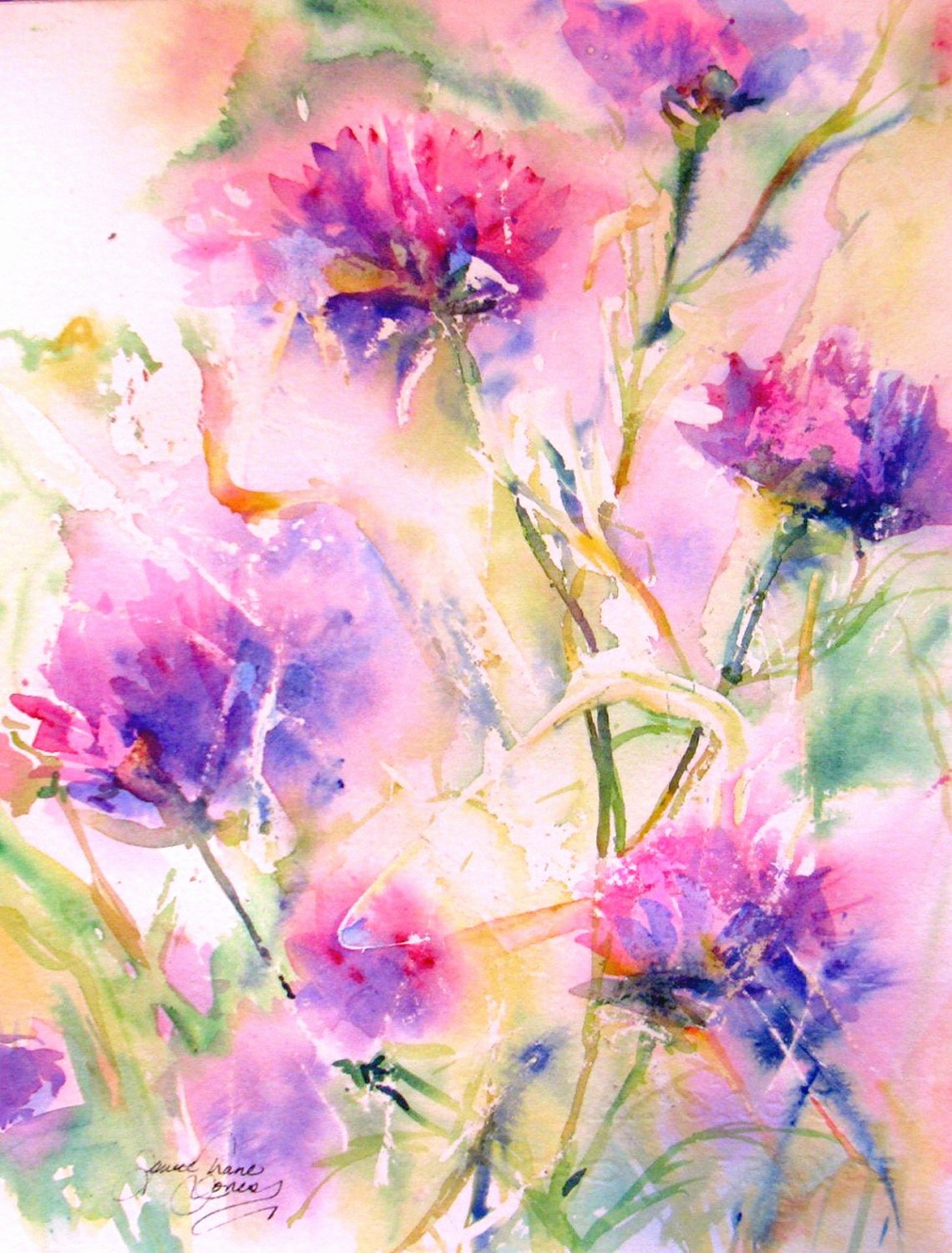 Abstract Pictures Of Flowers Lovely Abstract Flower original Watercolor Painting Modern