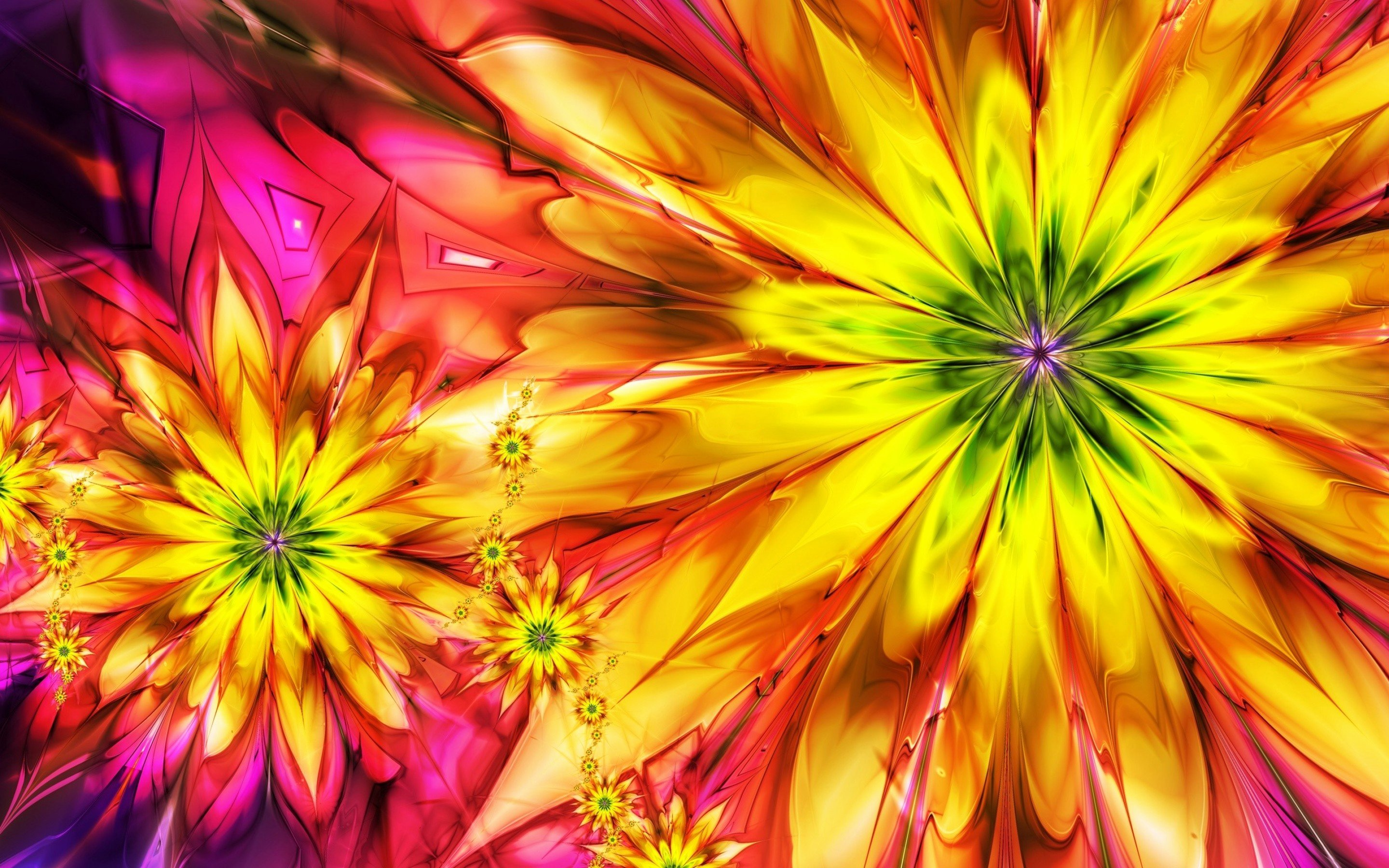 Abstract Pictures Of Flowers New Colorful Flowers Wallpapers Hd
