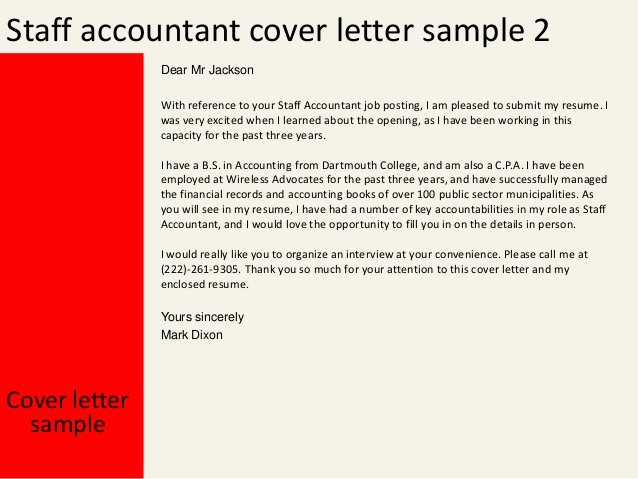 Accounting Cover Letter Samples Beautiful Staff Accountant Cover Letter