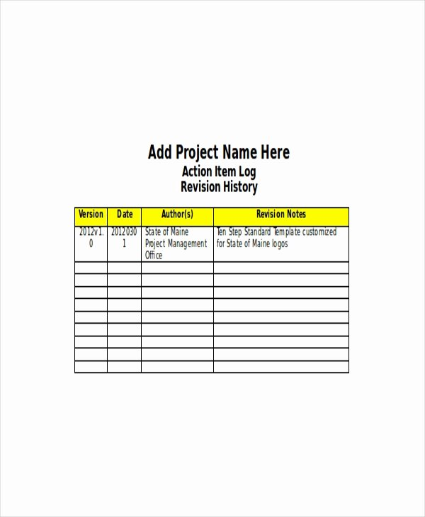 Action Item Template Word Awesome 4 Action Log Template Free Word Excel Documents