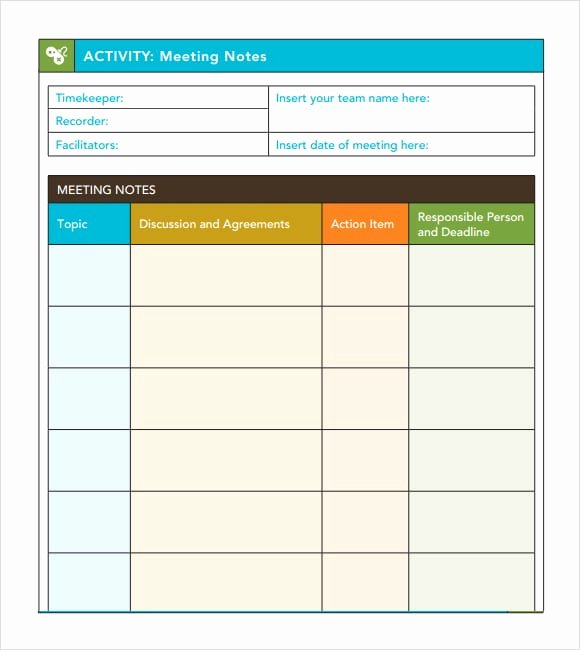 Action Item Template Word Best Of 7 Free Meeting Minutes Templates Excel Pdf formats