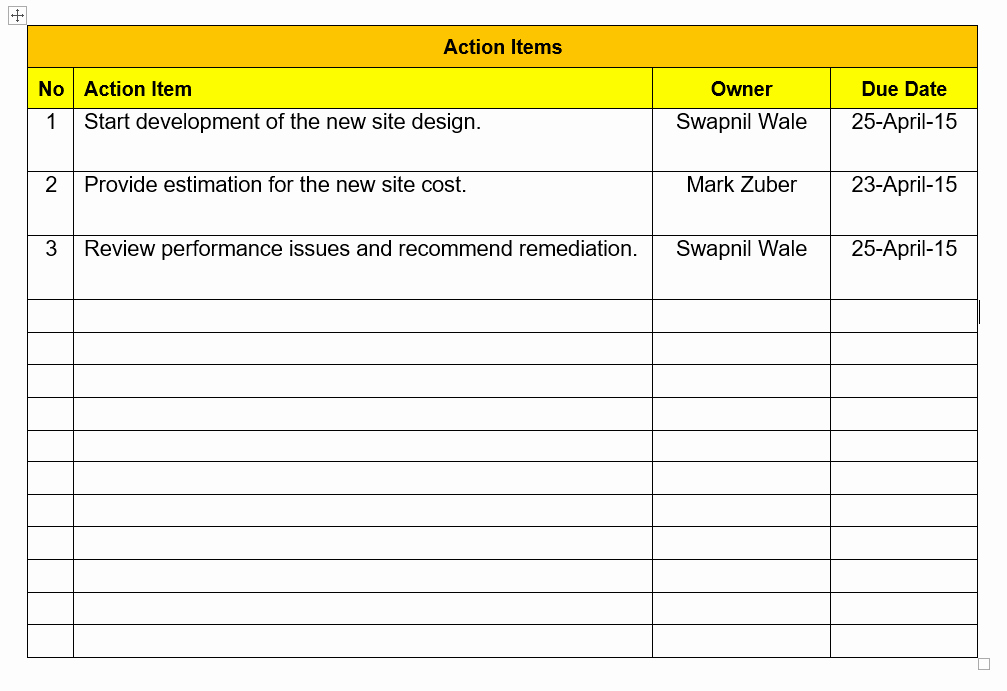 Action Item Template Word Inspirational Action Item Tracking Excel Template Download Free