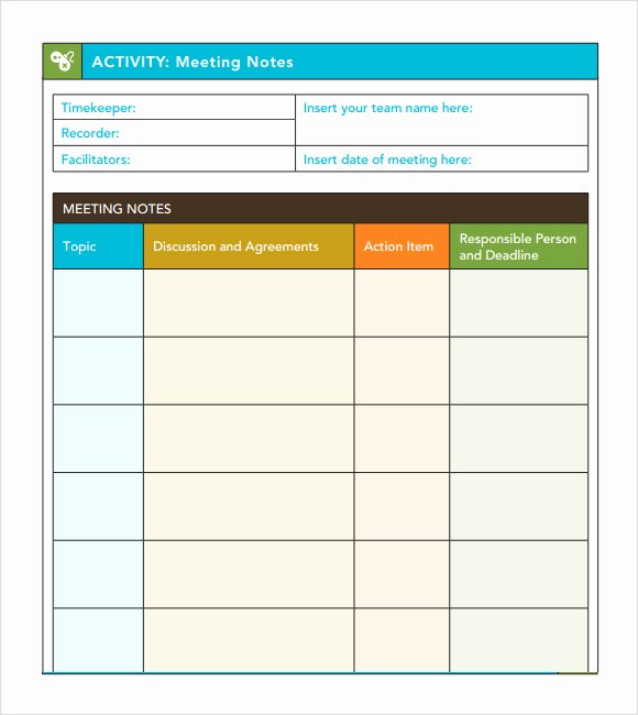Action Item Template Word Inspirational Meeting Agenda Template Excel