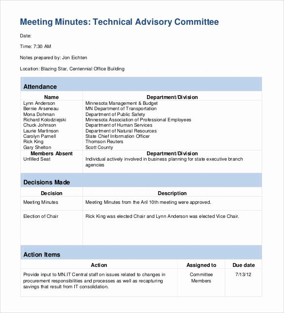 Action Item Template Word New Free 44 Sample Meeting Minutes Templates In Google Docs