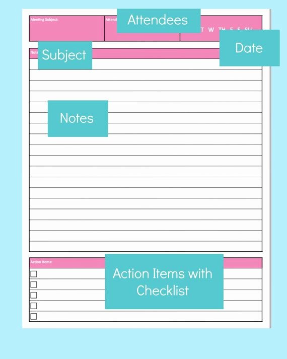 Action Item Template Word Unique Pin On Discbound Planner Printables
