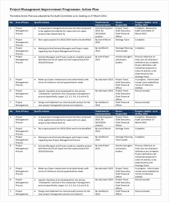 Action Plan Template for Managers Elegant 90 Action Plan Templates Word Excel Pdf