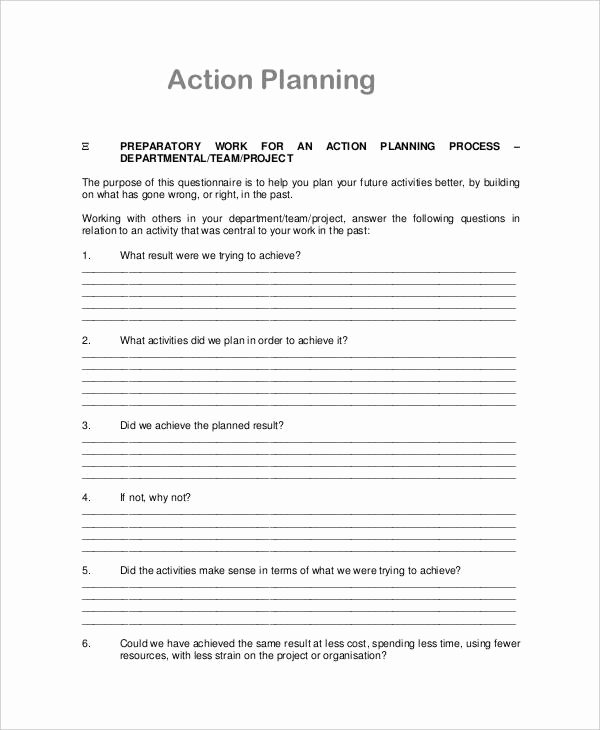 Action Plan Template for Managers Fresh 26 Action Plan Free Word Pdf Documents Download