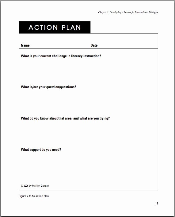 Action Plan Template for Managers Fresh Delta Scape November 2011