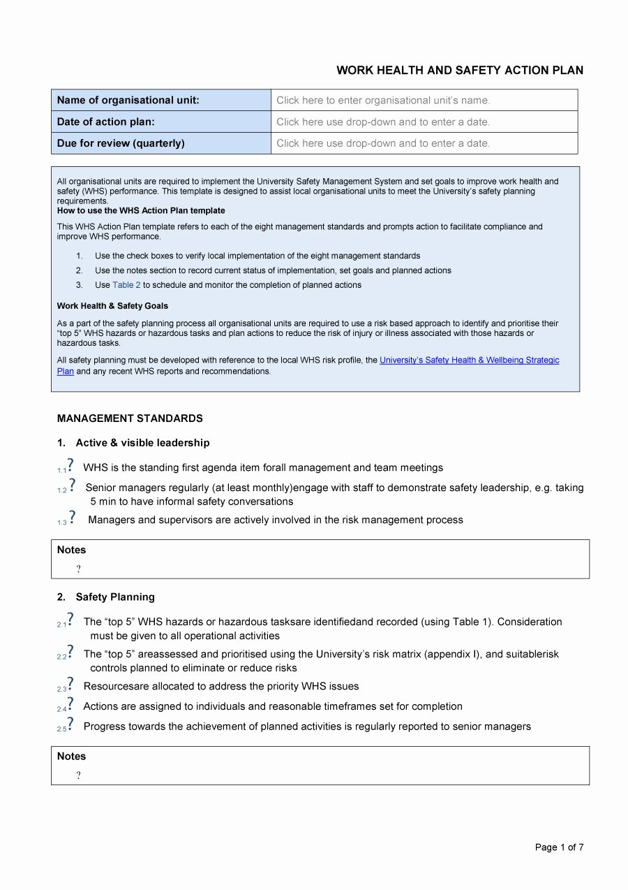 Action Plan Template for Managers Lovely 45 Free Action Plan Templates Corrective Emergency