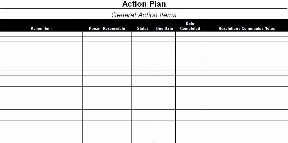 Action Plan Template for Managers Luxury Action Plan Template Excel Sample Corrective