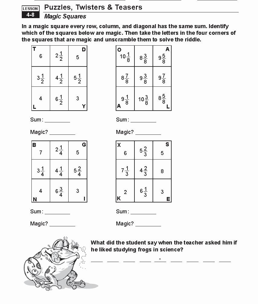 Adding Fractions Worksheet Inspirational Math Worksheets Fractions – Michael Jordan Was Cut From
