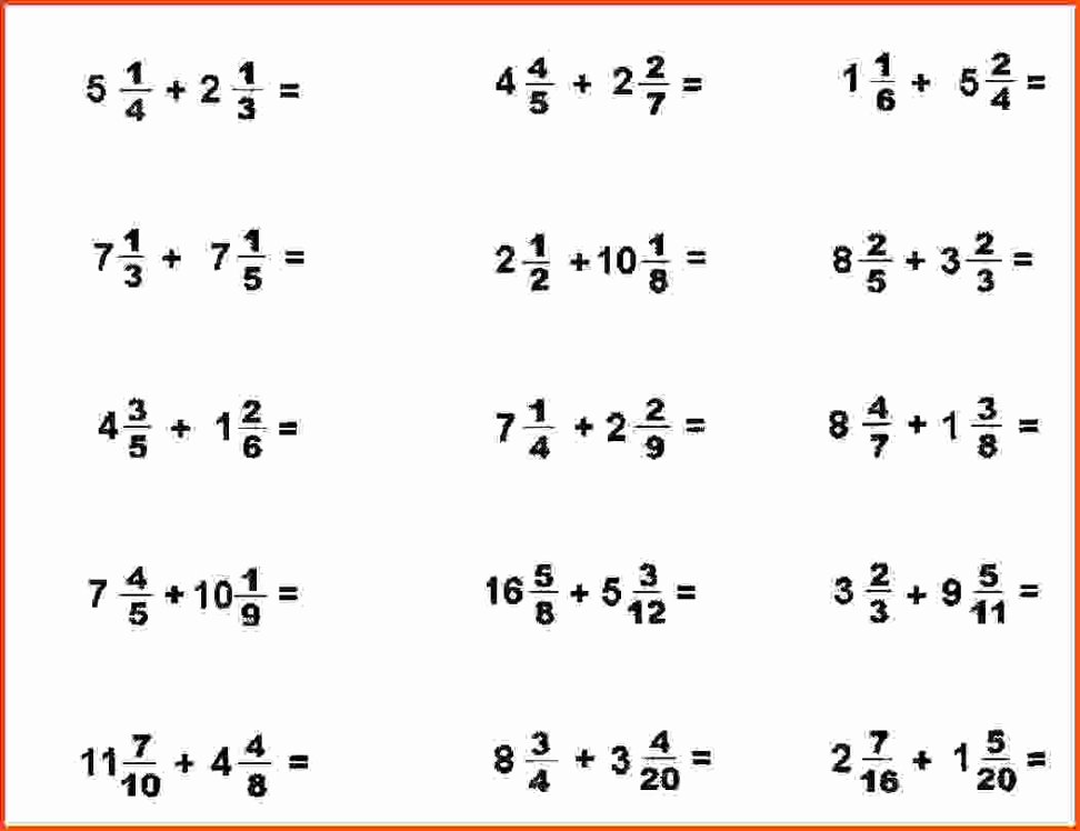 Adding Fractions Worksheets Awesome Adding Fractions Worksheet with Answers Picture Worksheet