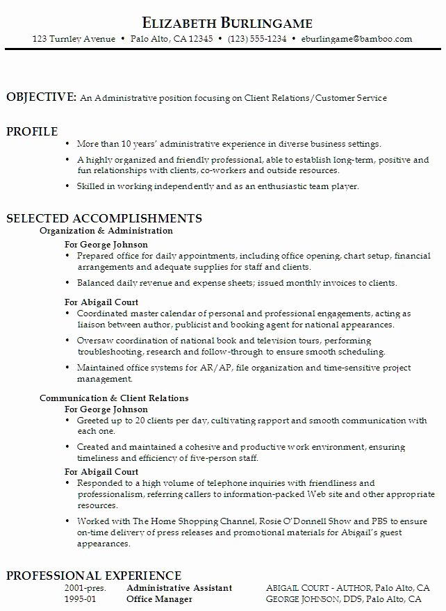 Administrative assistant Resume Objective Fresh Sample Function Resume for An Administrative assistant