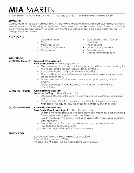 Administrative assistant Resume Objective Lovely Objective for Office assistant Resume – Skinalluremedspa