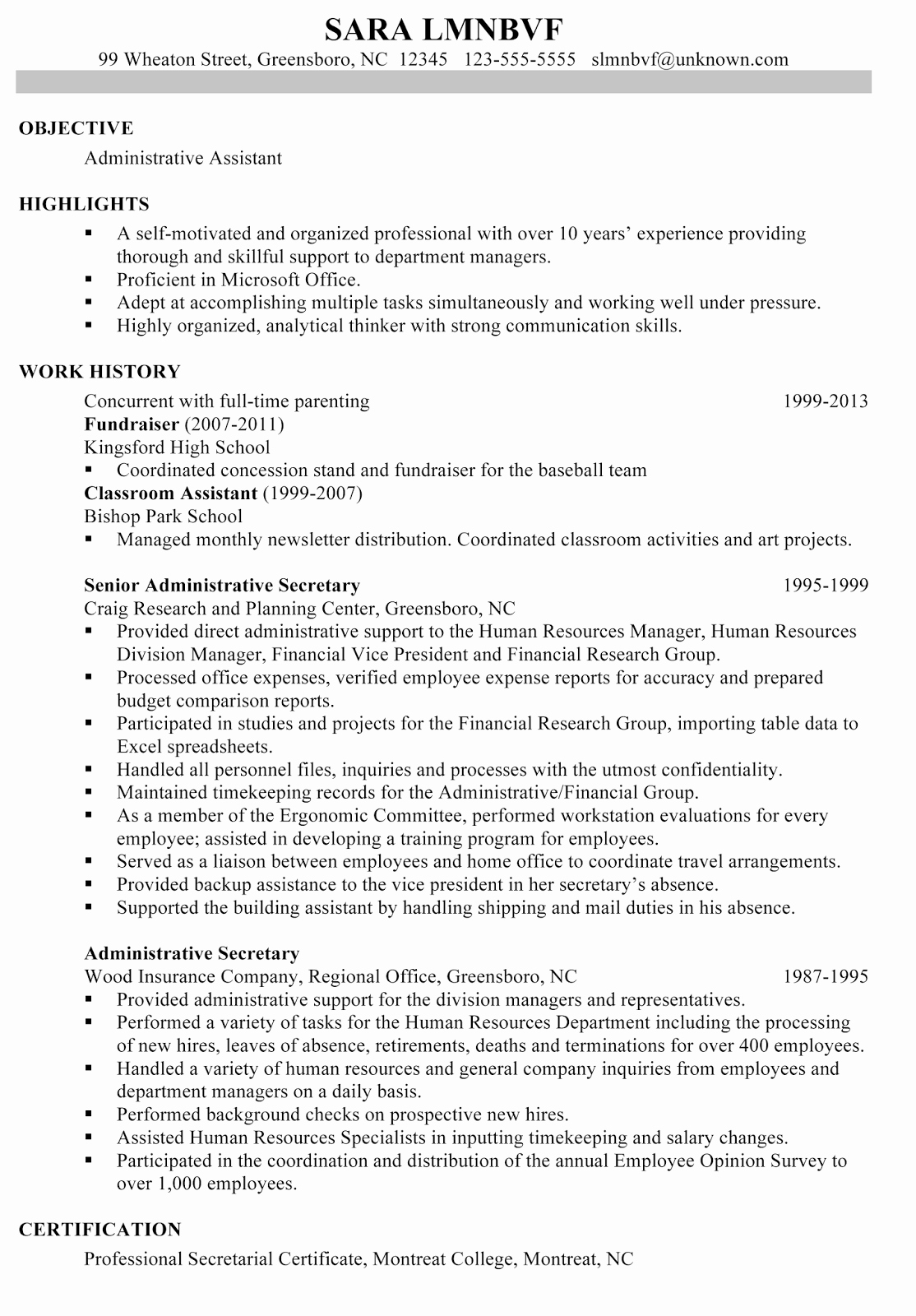 Administrative assistant Resume Objective Lovely Sample Objective Resume for Administrative assistant