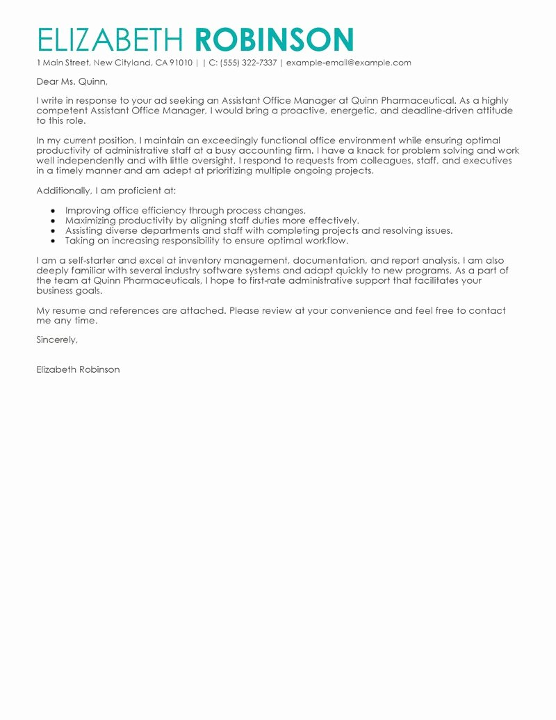 Administrative Support Cover Letter Best Of Best Administrative Cover Letter Examples