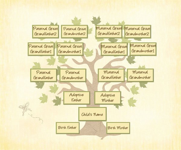 Adoption Family Tree Template Beautiful Adopted Genealogy A Different Family Tree Treasure
