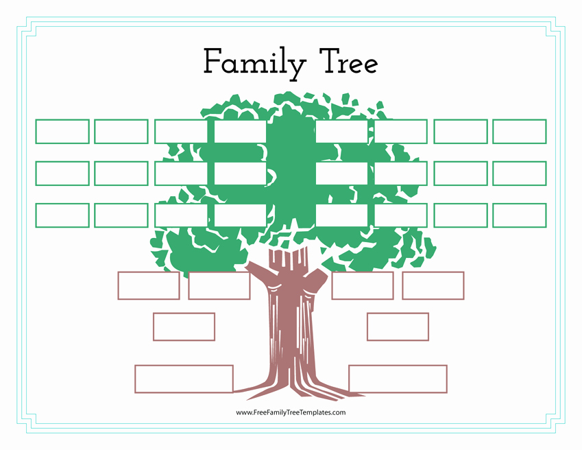 Adoption Family Tree Template Elegant Family History Tree Template – Free Family Tree Templates